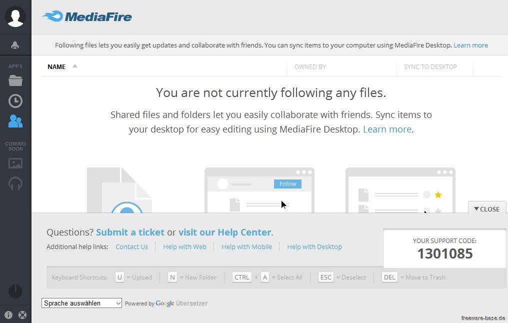 Vorschau MediaFire Desktop - Bild 3
