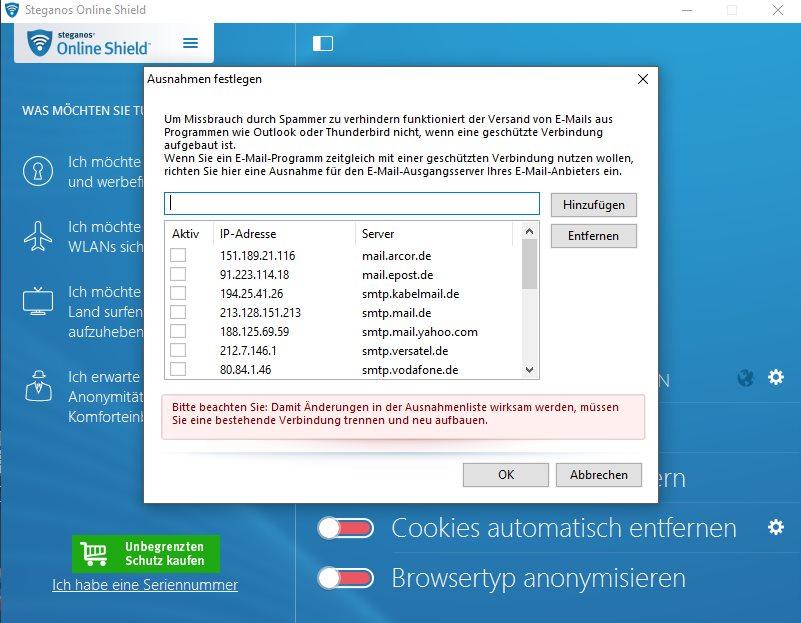 Vorschau Steganos Online Shield VPN - Bild 3