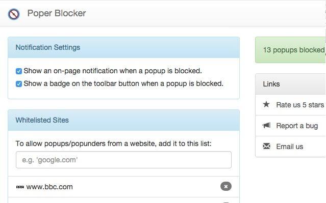 Vorschau Poper Blocker für Chrome - Bild 3