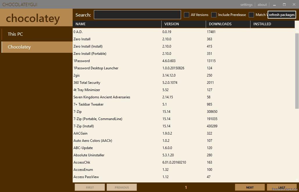 Vorschau Chocolatey - Programm installer - Bild 3