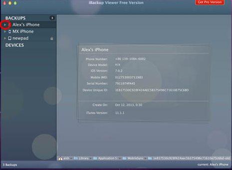 Vorschau iBackup Viewer für Mac - Bild 3