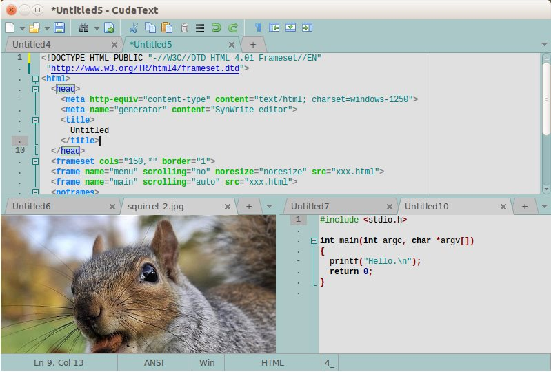 Vorschau CudaText - Text Editor - Bild 3