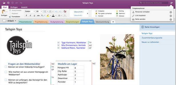 Vorschau Microsoft OneNote für Mac - Bild 3