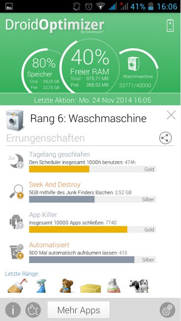Vorschau Ashampoo Droid Optimizer für Android - Bild 3