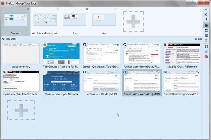 Vorschau Tabgruppen für Firefox - Bild 3