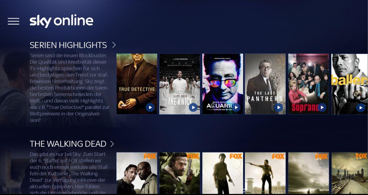 Vorschau Sky Online für Windows 10 - Bild 3