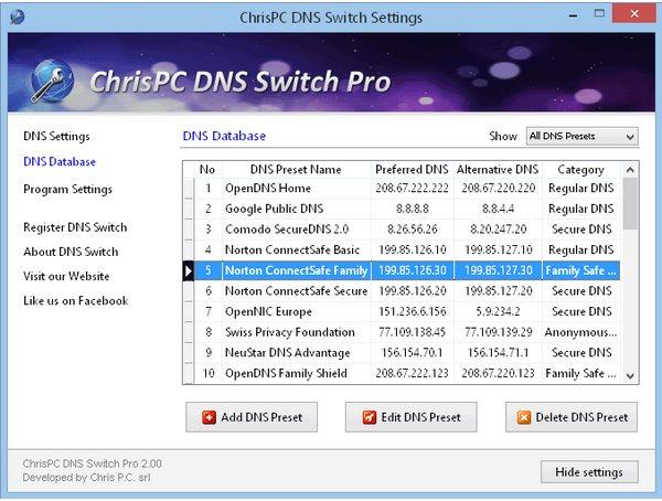 Vorschau ChrisPC DNS Switch - Bild 3
