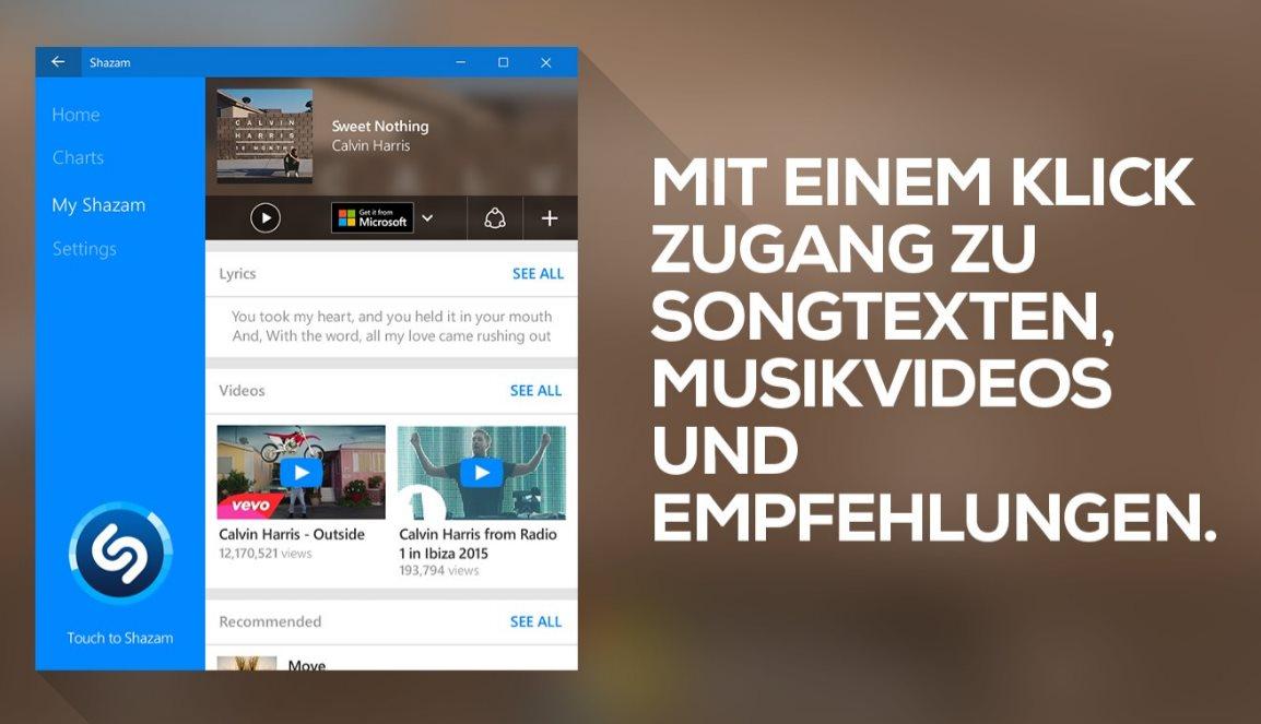 Vorschau Shazam für Windows 8 und 10 - Bild 3
