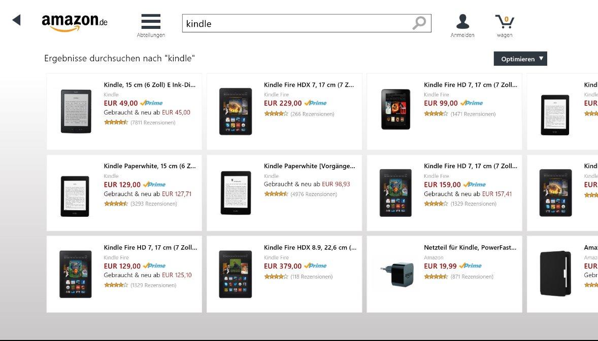 Vorschau Amazon für Windows 8 und 10 - Bild 3