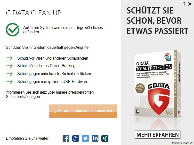 Vorschau G Data Clean Up - Bild 3