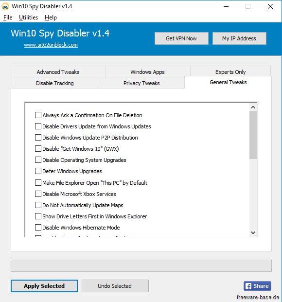 Vorschau Win10 Spy Disabler und Portable - Bild 3