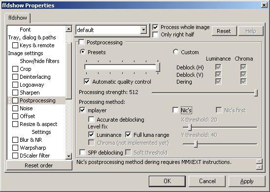 Vorschau FFDShow MPEG-4 Video Decoder - Bild 3