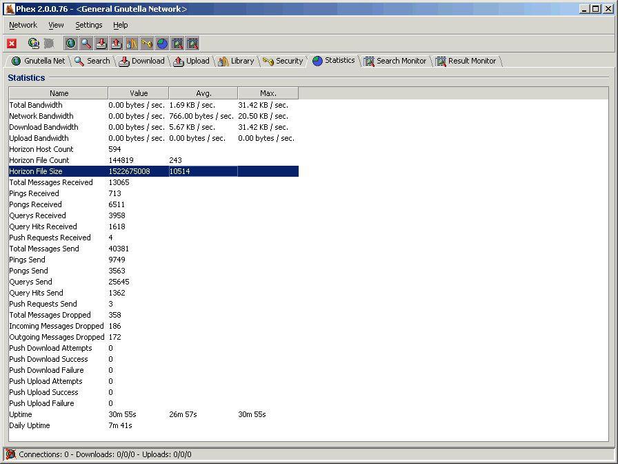 Vorschau Phex - the P2P filesharing client - Bild 4