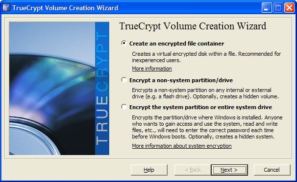Vorschau TrueCrypt for Windows - Bild 4