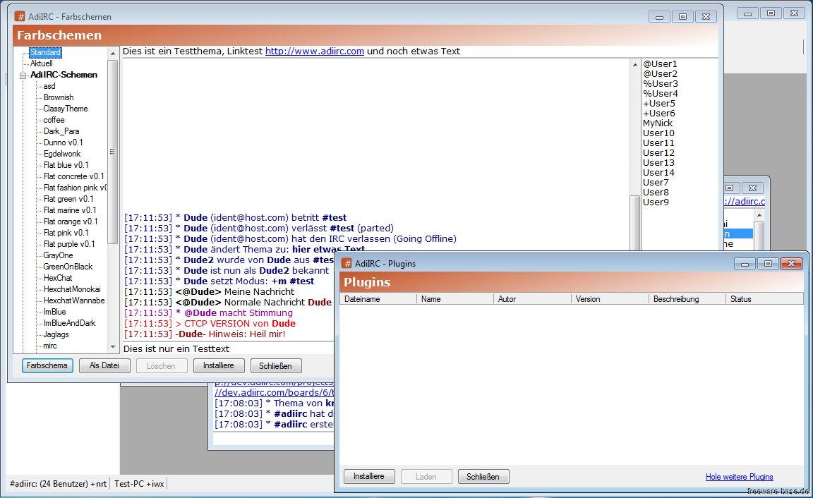 Vorschau AdiIRC - Internet Relay Client - Bild 4