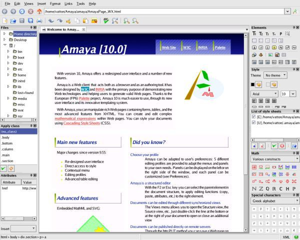 Vorschau Amaya for Windows - Bild 4