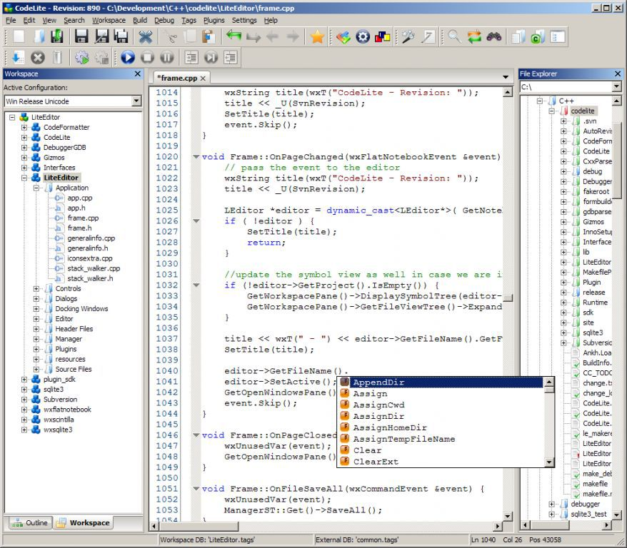 Vorschau CodeLite - Bild 4