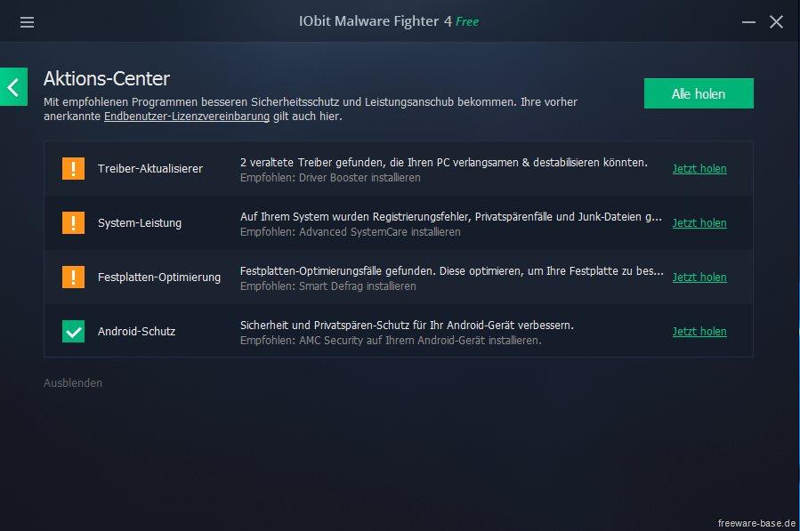 Vorschau IObit Malware Fighter - Bild 4