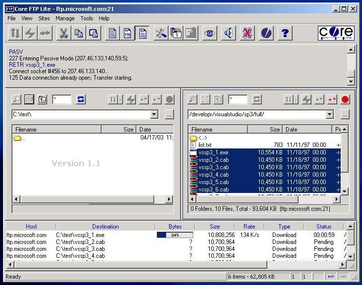 Vorschau Core FTP LE - Bild 4