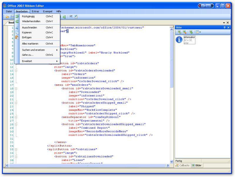 Vorschau Office 2007 Ribbon Editor - Bild 4