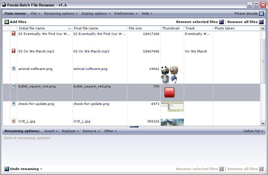Vorschau Panda Batch File Renamer - Bild 4