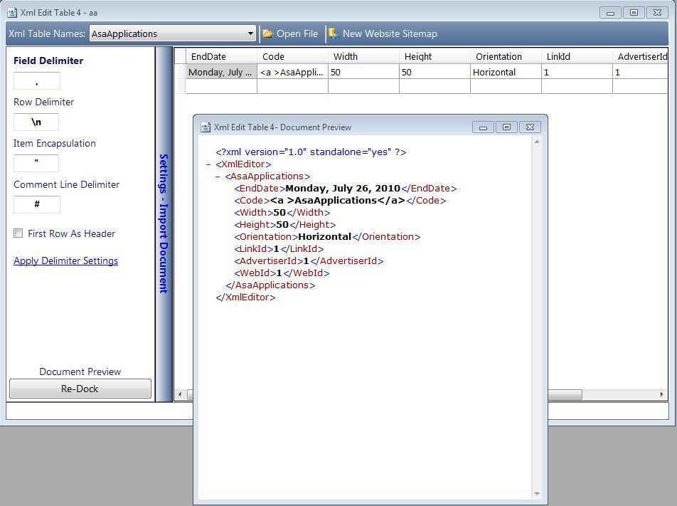Vorschau XML Editor 2 - Bild 4