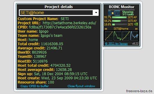 Vorschau BOINC Monitor - Bild 4