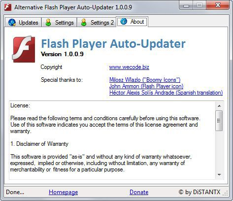 Vorschau Alternative Flash Player Auto Updater - Bild 4