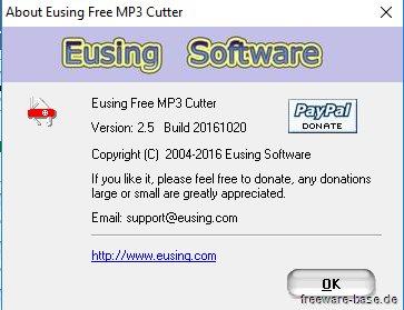 Vorschau Eusing Free MP3 Cutter - Bild 4