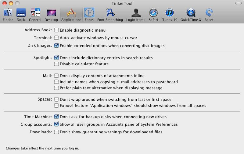 Vorschau Tinkertool for Mac - Bild 4