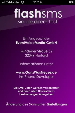 Vorschau Flash SMS iPhone-App - Bild 4