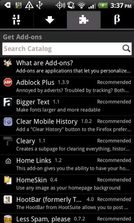 Vorschau Mozilla Firefox - Android App - Bild 4