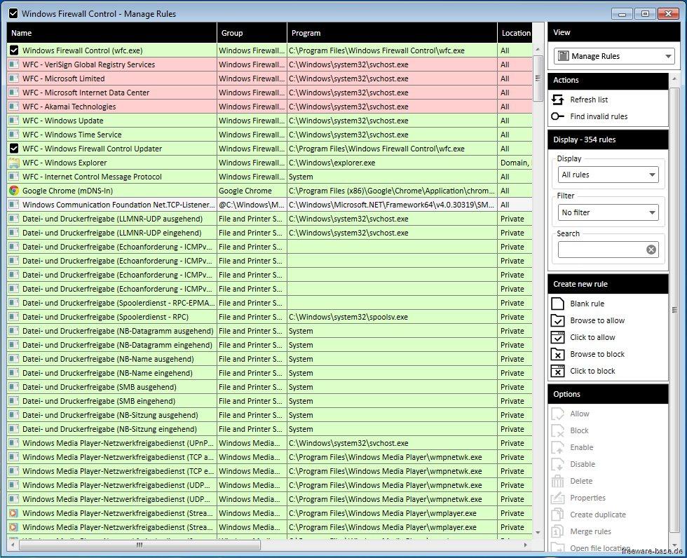 Vorschau Windows Firewall Control - Bild 4