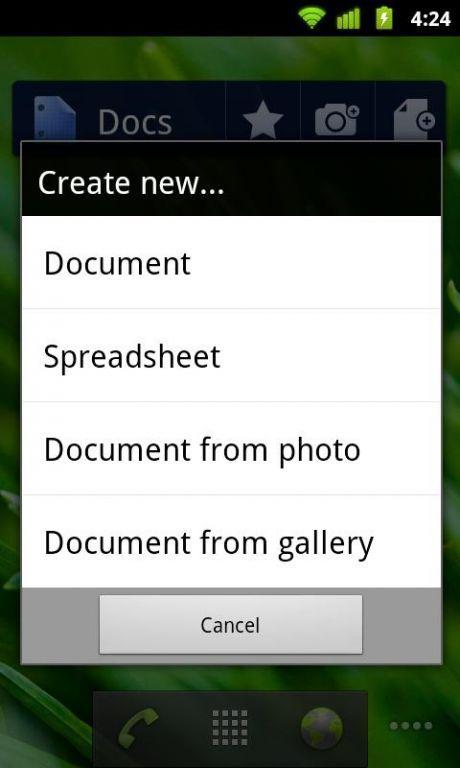 Vorschau Google Text und Tabellen Android App - Bild 4