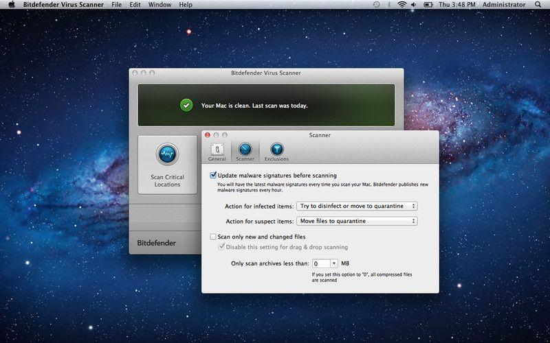 Vorschau Bitdefender Virus Scanner for Mac - Bild 4