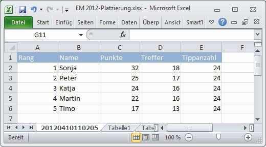 Vorschau SmartTools EM-Tipp 2012 fuer Excel - Bild 4