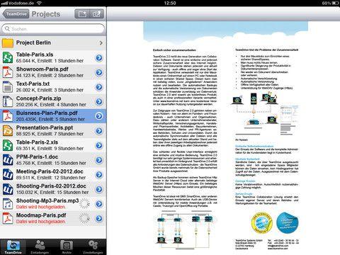 Vorschau TeamDrive for iOS - Bild 4