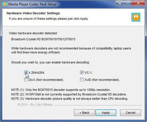 Vorschau Media Player Codec Pack - Bild 4