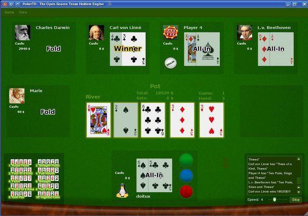 Vorschau PokerTH for Linux - Bild 4