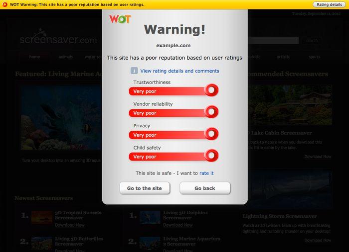 Vorschau WOT for Firefox - Bild 4