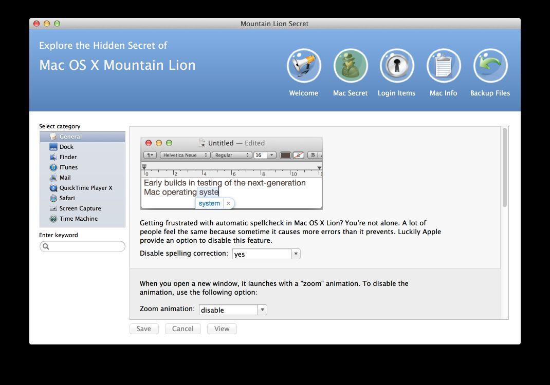 Vorschau Mountain Lion Secrets for Mac - Bild 4