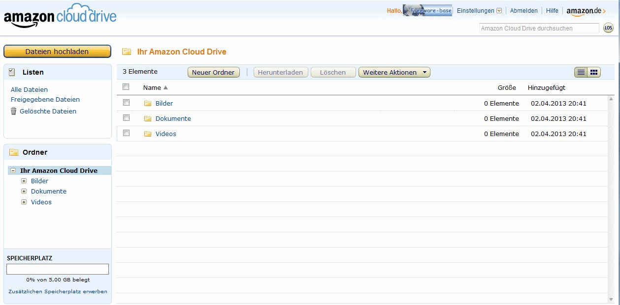 Vorschau Amazon Cloud Drive - Bild 4
