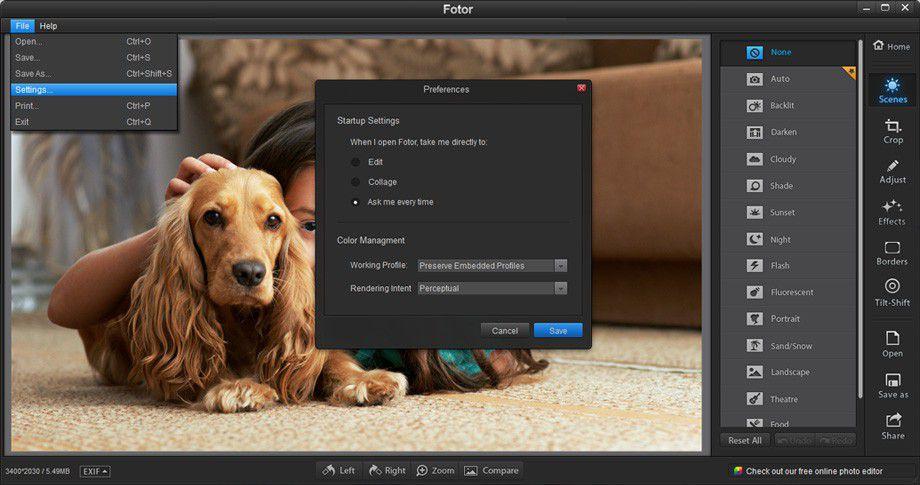 Vorschau Fotor-Photo Editor for Windows - Bild 4