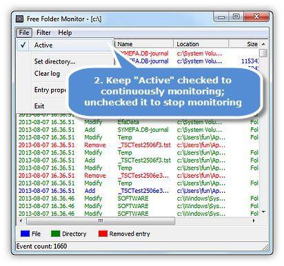 Vorschau Free Folder Monitor - Bild 4
