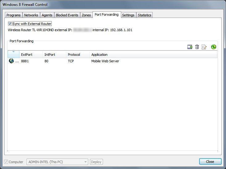 Vorschau Windows 8 Firewall Control Free - Bild 4
