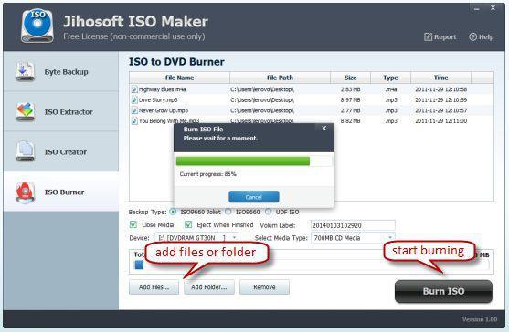 Vorschau Jihosoft ISO Maker Free - Bild 4