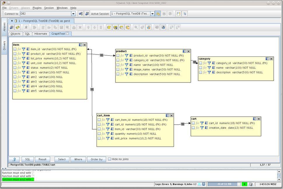 Vorschau SQuirrel SQL Client - Bild 4