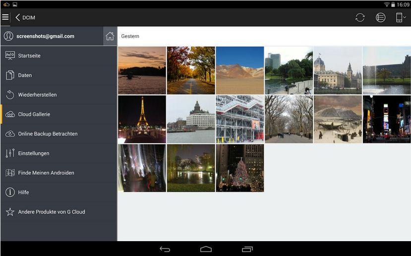 Vorschau G Cloud Backup für Android - Bild 4