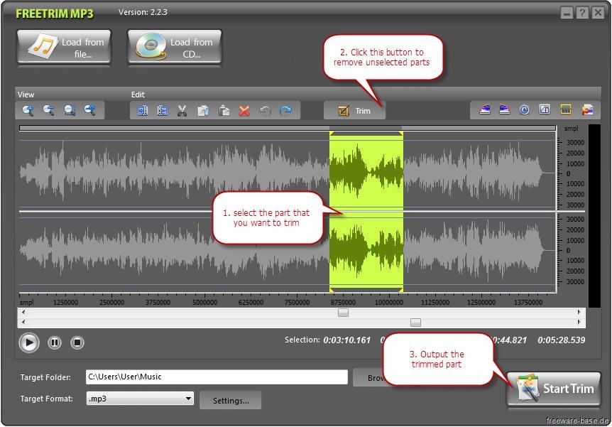 Vorschau FreeTrim MP3 - Bild 4