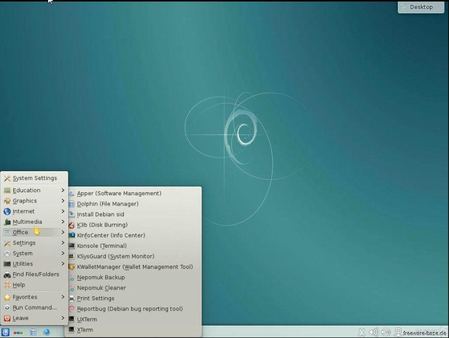 Vorschau Debian Live System KDE - Bild 4